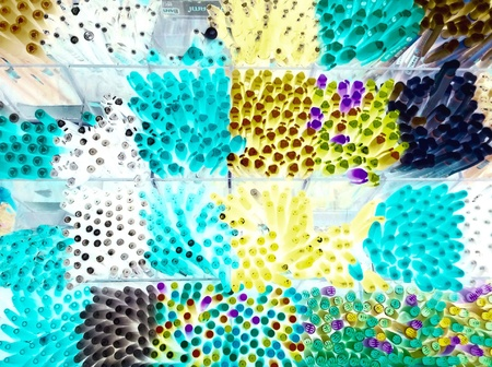 art: A lot of pen at store Stock Photo