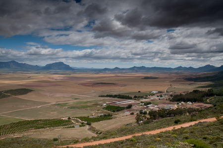 homesteads: A view of a Valley in the Western Cape.