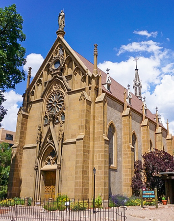 the Loretto Chapel in Santa Fe, New Mexico.  Home of the mysterious floating staircase.
