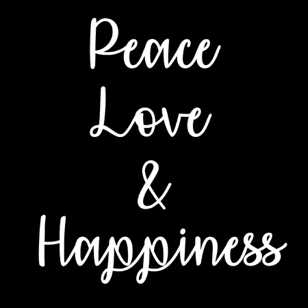 Inspirational And Mindful Quote Peace Love And Happiness In Stock Unique Quote About Peace And Love