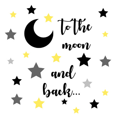 Inspirational Love quote:  To the moon and back with moon and stars.  By Jacqueline Cooper, My Aspiring Soulful Life
