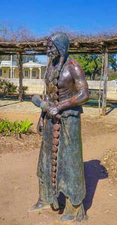 FREDERICKSBURG, TEXAS - MARCH 7, 2018- Lasting Friendship Bronze Sculptures in Marktplatz Park by J Hester