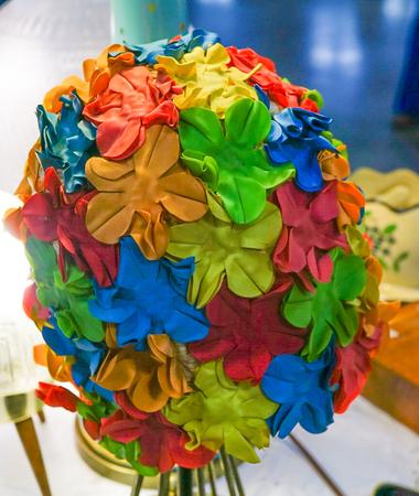 Retro swimming cap with flowers