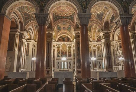 St. Louis Missouri: November 7, 2018; The Interior of the Cathedral  Basilica of St Louis 新闻类图片