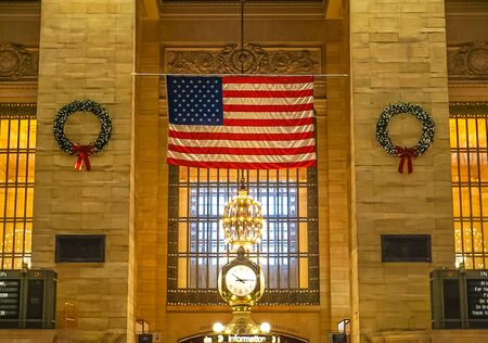 New York City, NY USA:  December 1, 2018 - The interior of Grand Central Station 新闻类图片