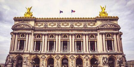 The Exterior of the Palais Garnier, an opera house in Paris France