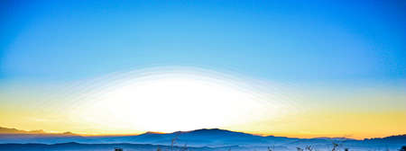 Landscape mountains in the sunset Stock Photo