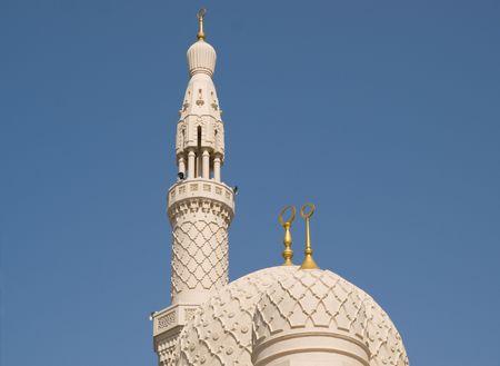 Domes and Minaret, Jumeirah Mosque, Dubai Imagens