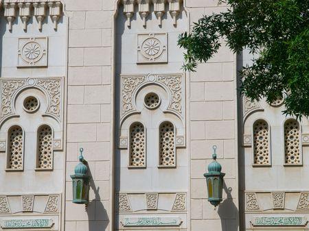 Closeup of Jumeirah Mosque, Dubai, UAE