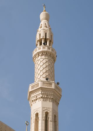 Minaret, Jumeirah Mosque, Dubai Imagens - 4382726