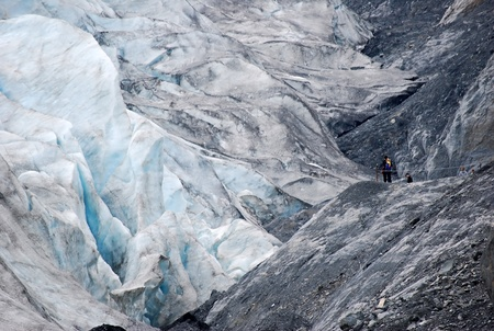 イグジット氷河 写真素材