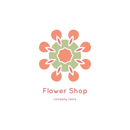 Bright and juicy beautiful circular symbol for organic shop, eco product, cosmetic, business. Company mark, emblem, element.