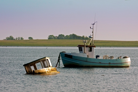 fishingboats: Old Fishingboats, one of them a wreck