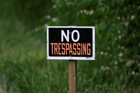 No Trespassing Sign photo