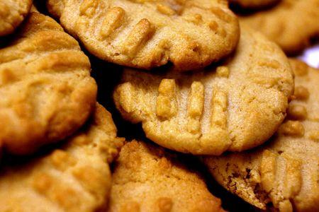 buttery: Closeup of Peanut Butter Cookies