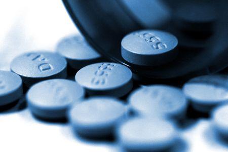 Macro of Bottle and Pills