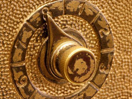 combination: Combination Lock Close Up