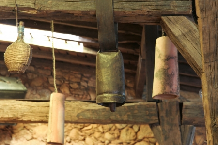 Old cowbells Stock Photo - 17389011