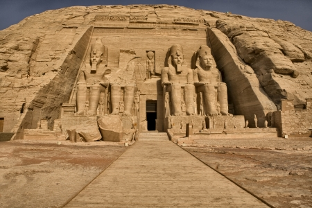 Abu Simbel main temple entrance photo