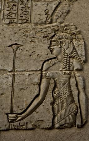 Egyptian woman engraved image photo