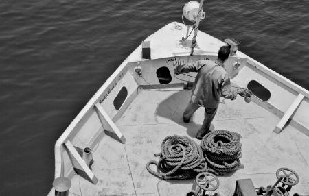 Maneuver in Nile river Stock Photo - 19456013