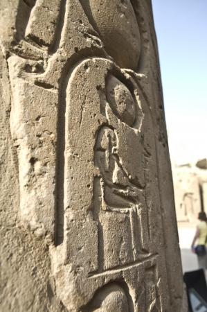 pharoah: Pharoah s Cartouche on a Temple column