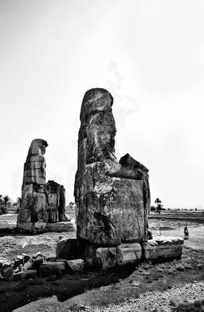 scribes: Colossi of Memnon on black