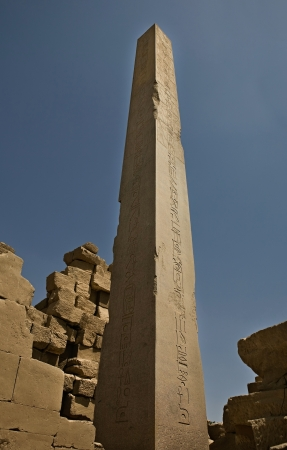 obelisk stone: Obelisk at Karnak Temple
