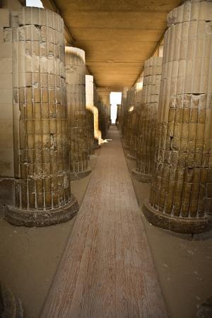 djoser: Saqqara temple columns corridor