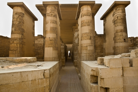 djoser: Entrance to temple Stock Photo