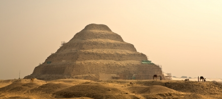 djoser: The Step Pyramid of Djoser in Egypt, famous, landmark Stock Photo