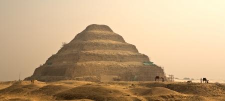 djoser: The Step Pyramid of Djoser in Egypt, famous, landmark Stock Photo