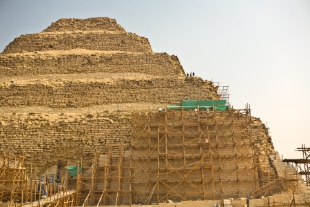 Saqqara scaffoldings photo