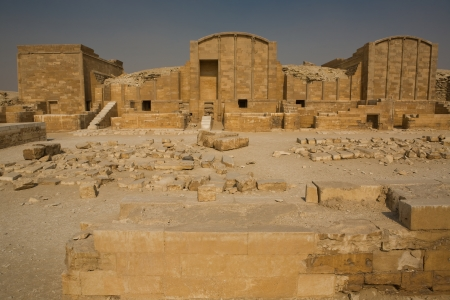 djoser: The dummy chapels in Hep Sed court Stock Photo