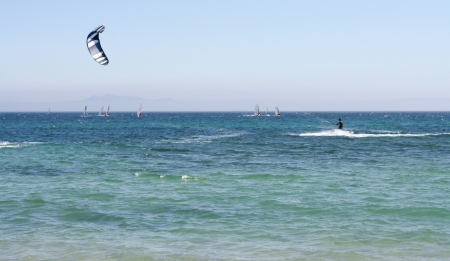 tarifa: Kitesurfer