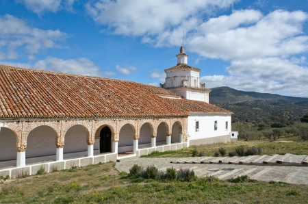 mudejar: The Shrine of Our Lady of Ara, situated in the foothills of Sierra Morena, about seven kilometers from Fuente del Arco, in the Sierra de la Jayona.