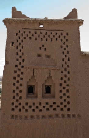 dwelling mound: A view of the tall buildings made from clay in Ait Benhaddou  Stock Photo