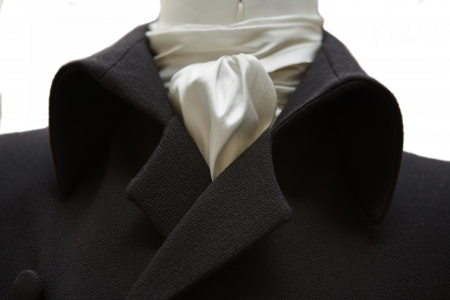 frock coat: Gentleman fashion in the nineteenth century. Upper part detail Stock Photo