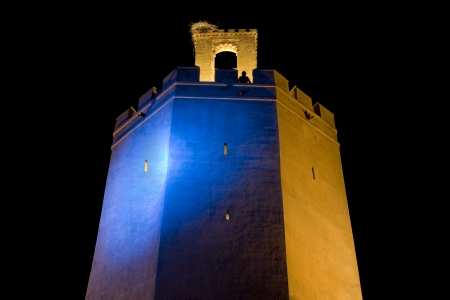 badajoz: Espantaperros Tower, erected by the Almohads in the 12th century, the most outstanding of the Albarran towers of the Arab Citadel and one of the most characteristic symbols of Badajoz