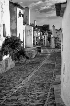 Monsaraz is a civil parish and municipal seat of the municipality of the Reguengos de Monsaraz, on the right margin of the Guadiana River in Portuguese Alentejo region, near its border with Spain. 免版税图像
