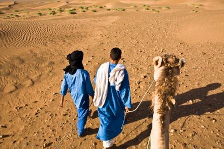 Desert camel adventure with two bedouin guide, Zagora, Morocco