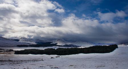 trossachs national park: A cold winter morning in Loch Lomond and the Trossachs national park landscape, Scotland