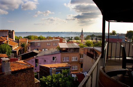 Colorful houses of Sultanahmet district, Istanbul, Turkey  City