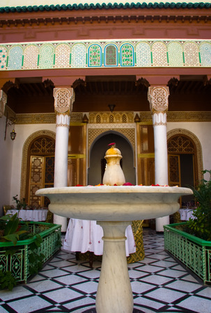 Fuente de Courtyard at riad de Marrakech, o graden interior, Marruecos