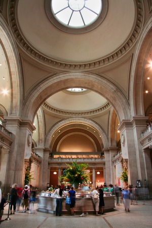 NEW YORK CITY - JUN 26  Metropolitan Museum of Art entrance hall,  one of the biggest museums in the world June 26, 2008 in New York, NY