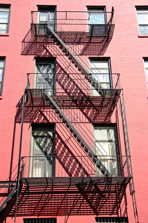 Harlem fire scape, Soho, New York, USA photo