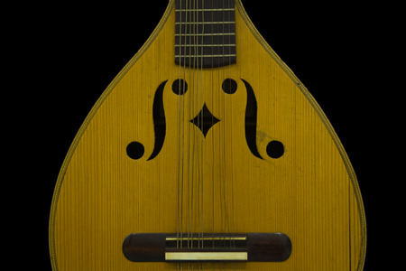 lute: Old lute isolated on the black,  Badajoz, Spain