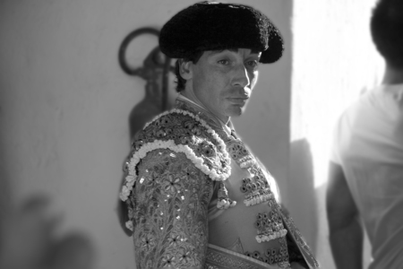 ALMENDRALEJO, SPAIN, AUGUST 15  The bullfighter Curro Diaz before ceremonial entry of bullfighters, on August 15, 2009 in Almendralejo, Spain
