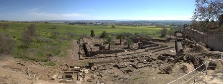 caliphate: Panoramic overview of Medina Azahara, Madinat al-Zahra, Near Cordoba, Andalusia, Spain   Stock Photo