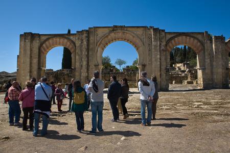 caliphate: CORDOBA, SPAIN - MARCH 23  Access gate of Medina Azahara on Archaeological Site of Medina Azahara, on March 23, 2013 Near Cordoba, Andalusia, Spain